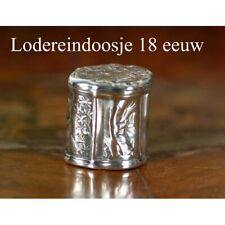 18e Eeuws zilveren lodereindoosje