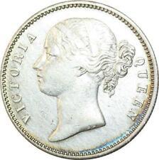 T4258 British India victoria one rupee 1840 silver silver - > make offer