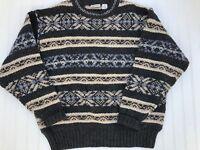 SKYR Men's Crewneck Sweater 100% Wool XL Vintage