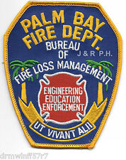 "Palm Bay - Bureau of Fire Loss Management, FL  (4"" x 5"" size) fire patch"