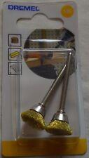 DREMEL SPAZZOLA IN OTTONE 536 pacco di 2 PER LA PULIZIA & LUCIDATURA 13.0mm 26150536JA