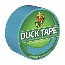 Duck Brand 1265020 Color Duct Tape, Aqua, 1.88 Inches x 20 Yards, Single Roll