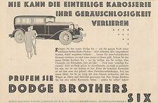 Y4358 Automobile Dodge Brothers Six Chrysler - Werbung Ära - 1929 Old Derartige