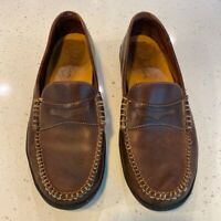 Cole Haan Mens Cup Penny Loafers Shoes Brown Slip On Round Moc Toe Casual 8 M