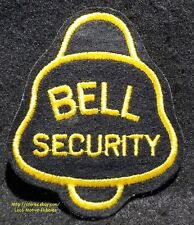 LMH Patch  BELL SECURITY Services  Guard Watchman Safety Service  4-3/4