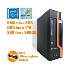 PC DESKTOP COMPUTER FISSO GATEWAY DS10G PENTIUM E6600 DUAL CORE WINDOWS XP-
