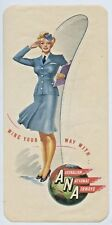 C.1950'S COLOURED GUMMED LABEL WING YOUR WAY WITH AUST NATIONAL AIRWAYS ANAE73
