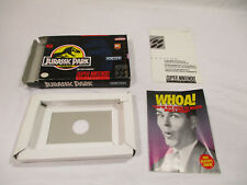 Jurassic Park Super Nintendo SNES Authentic Box And Inserts NO GAME CART!