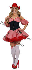 COWGIRL COUNTRY GIRL FANCY DRESS COSTUME WOMENS LADIES OUFIT FREE POSTAGE (N)