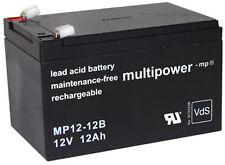 Multi Power 12 V/12ah Plomb-Batterie mp12-12b Faston 6,3 VDS np12-12 | lc-ra1212pg1