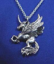 Silberanhänger fliegendes Einhorn 925er Sterling Silber