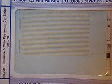 Microscale Decal N  #60-798 Baltimore & Ohio Passenger Car Stripes (1949-1970)