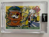 Topps Project 2020 Sandy Koufax Artist Ermsy #145 PR 6,385 Brooklyn Dodgers HOF