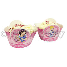 Disney Princess Girls Birthday Partyware Decoration Supplies Balloons Tableware Cupcake Wraps X8
