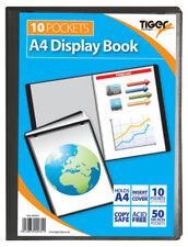 10 PAGE BLACK DISPLAY BOOK PRESENTATION FILE FOLDER 10 A4 CHEAP CLEAR POCKETS