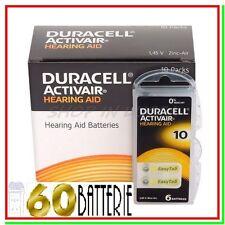 60 DURACELL 10 Batterie PR70 ACTIVAIR Protesi Pile per Apparecchi Acustici