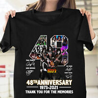 Ki'ss 48th Anniversary Members Paint Faces Rock Fan Unisex T Shirt S-5XL Black