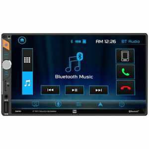 """Dual DM720 7"""" Double DIN In-Dash Mechless Car Stereo Receiver w/ Bluetooth"""