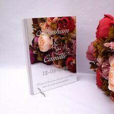 Personalized Album Mirror White Blank Wedding Signature Guest Book Acrylic Stick