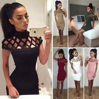 Sexy Bandage Bodycon Evening Party Cocktail Short Mini Dress Summer Sleeveless