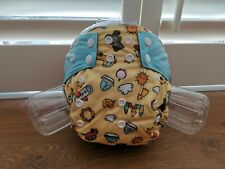 3 x Reusable nappies | Bamboo charcoal | Sewn-in insert | Toys theme