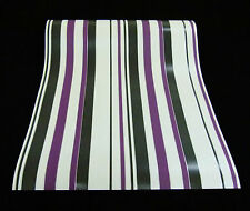 9602-09-2) schicke Design Vinyltapete moderne Streifen Tapete schwarz weiß lila