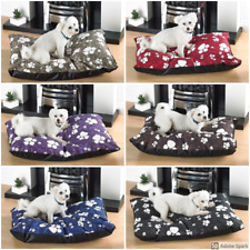 More details for large dog bed with removable zipped poly cotton cover pad bed mattress cushion