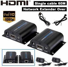 HD 3D 1080P 60M IR HDMI Extender Adapter Over Single LAN RJ45 CAT5e CAT6 7 Cable
