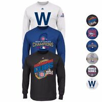 Chicago Cubs MLB 2016 World Series Champions MAJESTIC Long Sleeve T-Shirt Men's
