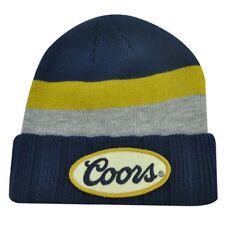 COORS Cerveza Bière Bleu Gris Tricot Bonnet Toque Chapeau Bonnet