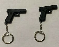 2 New Glock Keychain - Keyring Synthetic Pistol Factory (2X)