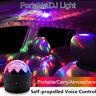 6Pcs Voice Control Mini LED Car Light Halloween USB Atmosphere Backlight DJ