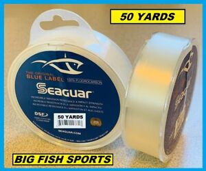 SEAGUAR BLUE LABEL FLUOROCARBON Leader 30lb/ 50yd NEW! 30 FC 50 FREE USA SHIP!