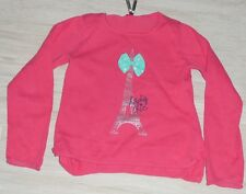8110 - Pull rouge coton 8 ans ORCHESTRA LADY CHIC Tour eiffel