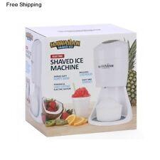 Hawaiian Shaved Ice Maker Electric Ice Crusher Slushie Shaver Snow Cone Machine