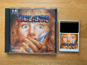 VIGILANTE NEC PC Engine Original Japan TurboGrafx Duo Express ARCADE CoreGrafx