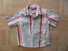 Rot -Beige gestreift Mangoon Hemd Jungen Gr. 98/104 wie Neu