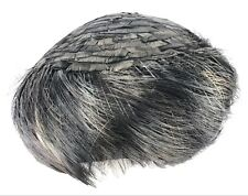 Vintage Ladies Black Feather Cloche Hat Brandt of New York Made in France 470ce39a21c1