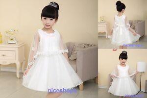 Girls Flower/Bridesmaid/Party/Princess/Wedding/Christening/Communion Dress(27)