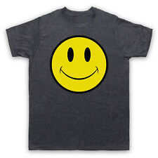 ACID HOUSE SMILE FACE LARGE VINTAGE SLATE MENS T-SHIRT