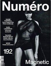 NUMERO #192 Magnetic NAOMI CAMPBELL Melody Gardot KARL LAGERFELD Greta Varlese