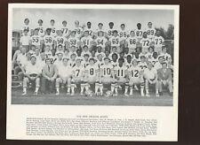 1972 NFL Football New Orleans Saints Team 8 X 10 Photo