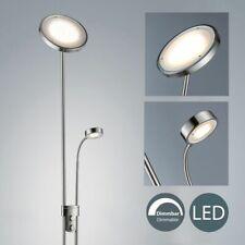 LED Deckenfluter Josefin Leselampe Wohnzimmer Leuchte Lampenwelt Dimmbar Nickel