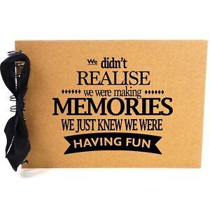 Ribbon, Making Memories, Photo Album, Scrapbook, Blank White Pages, A5