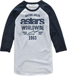 Alpinestars Mens Entice Tee T- Shirt White/Navy XL