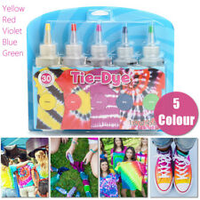 5 X Tulip Tie Dye Kit Fabric  Vibrant Textile Permanent Paint Colours   !