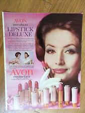 1961 Avon Cosmetics Ad  Avon introduces LIPSTICK DELUXE