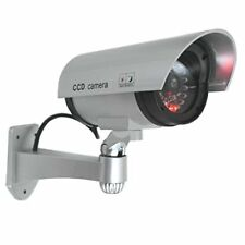Realistic Bullet  Dummy Security CCTV Fake Camera LED Light Indication