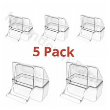 5 x External Bird Cage Feeder Drinker For Finch Canary Budgie Etc