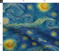 Vincent Impressionist Painting Star Starry Night Spoonflower Fabric by the Yard
